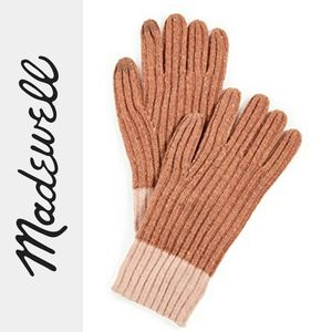 Madewell   Colorblock Ribbed Texting Gloves